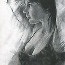 charcoal study of Moray by djones