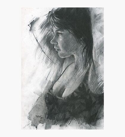 charcoal study of Moray Photographic Print