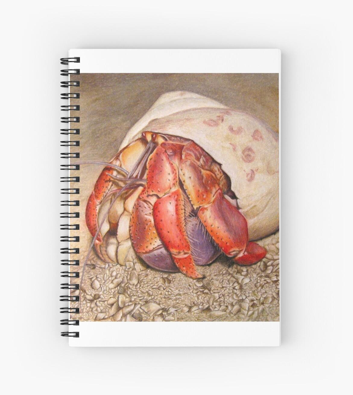 Cuadernos de espiral «Dibujo de cangrejo ermitaño» de CATStudiosArt ...