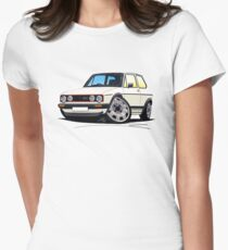 VW Golf (Mk1) GTi White Womens Fitted T-Shirt