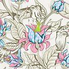 The Sea Garden - pastel by Lidija Paradinovic Nagulov