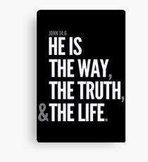 John 14:6 Canvas Print