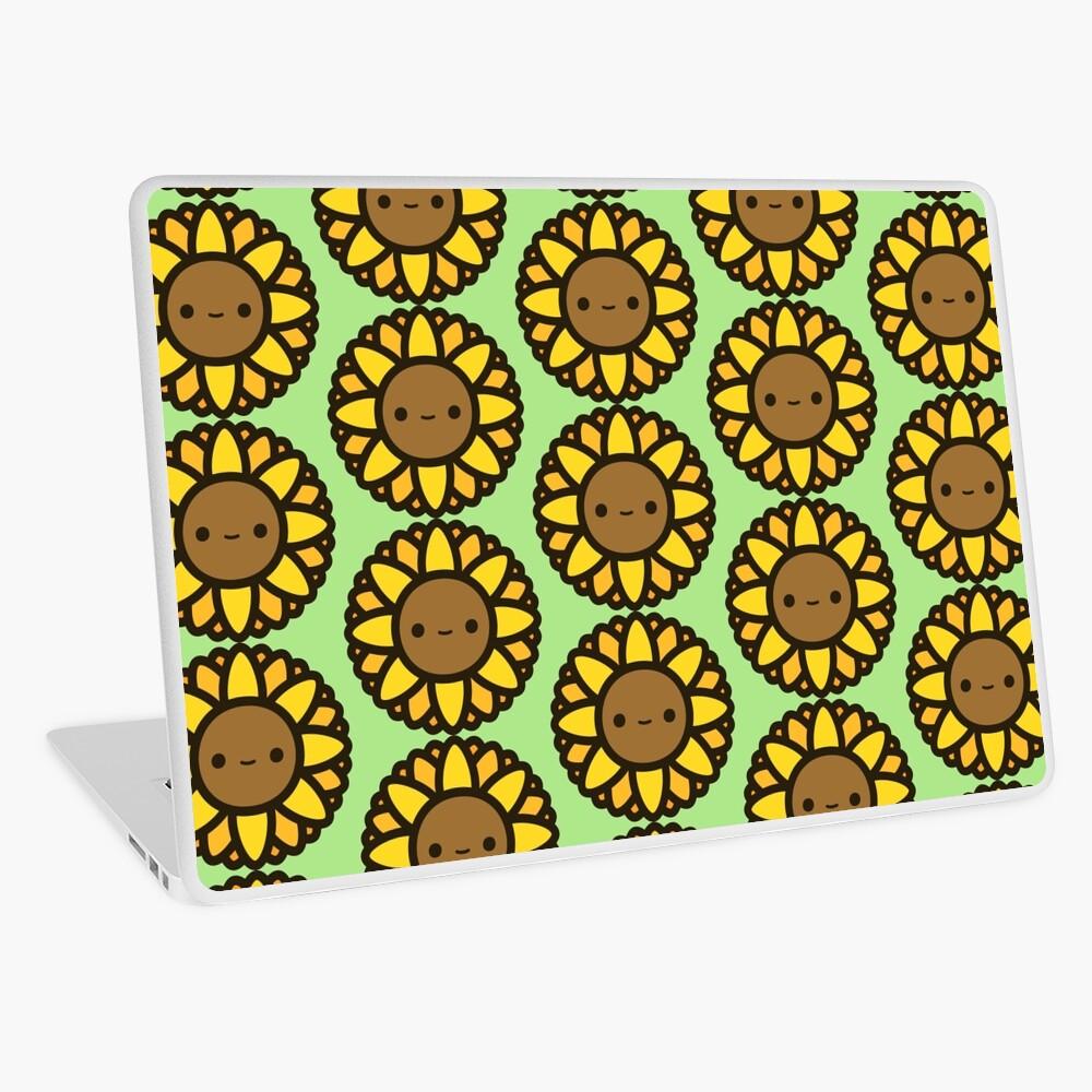 Cute sunflower Laptop Skin