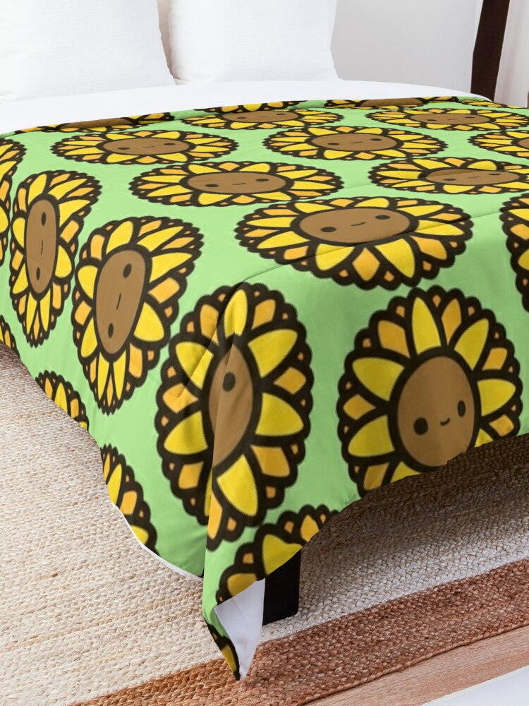 Alternate view of Cute sunflower Comforter