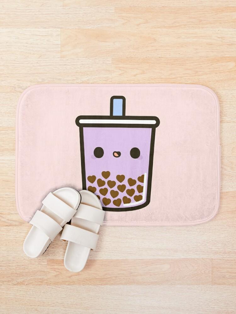 Alternate view of Cute Love Heart Bubble Tea Bath Mat