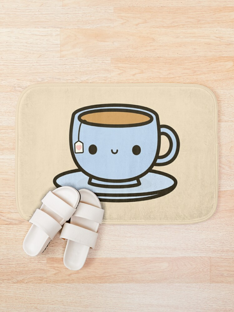 Alternate view of Cute cup of tea Bath Mat