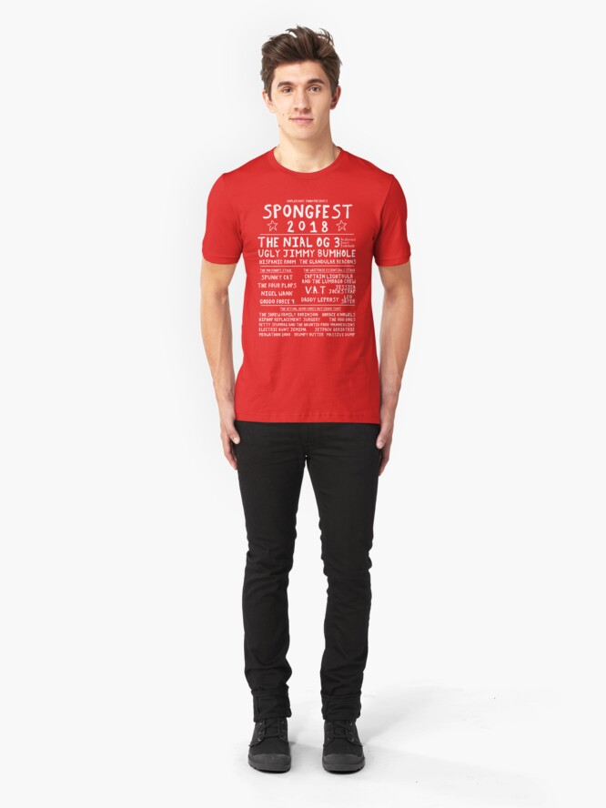 Alternate view of Official Spongfest 2018 T-shirt Slim Fit T-Shirt