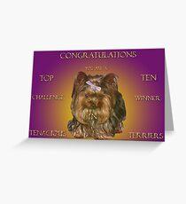 Top Ten Banner (Tenacious Terriers Group) Challenge Greeting Card