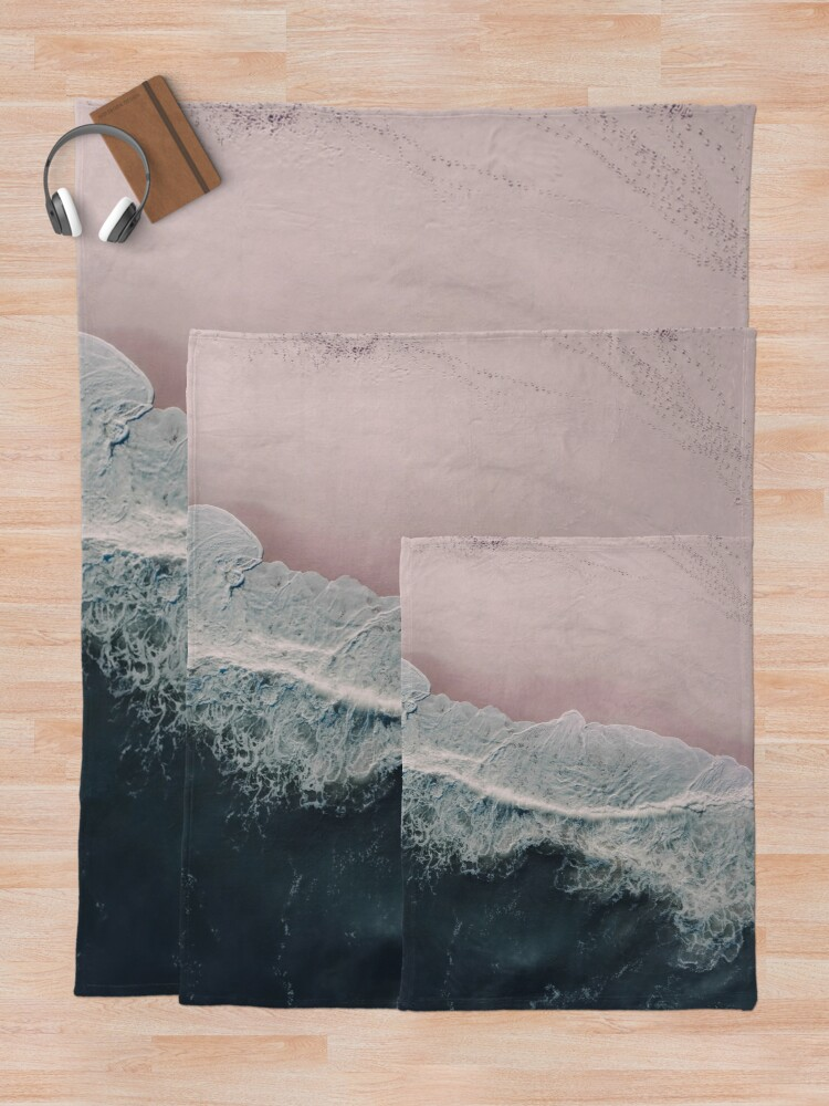 Alternate view of Sands of Cameo Pink Throw Blanket