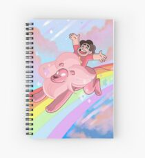 Steven and Lion over the rainbow Spiral Notebook