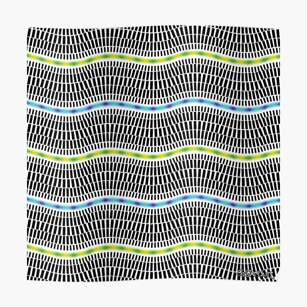 FLUORESCENT WAVES Poster