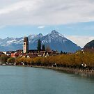 Unterseen on the river Aare by Mark Howells-Mead
