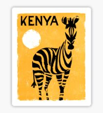 Kenya Africa Vintage Travel Poster Restored Sticker