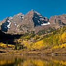 The Maroon Bells In Fall by Gregory J Summers