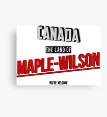 The Land Of MAPLE-WILSON Canvas Print
