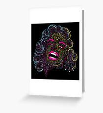 Marilyn on Acid Greeting Card