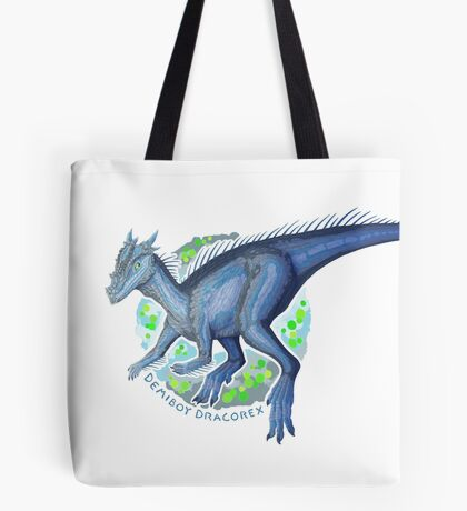 Demiboy Dracorex (with text)  Tote Bag