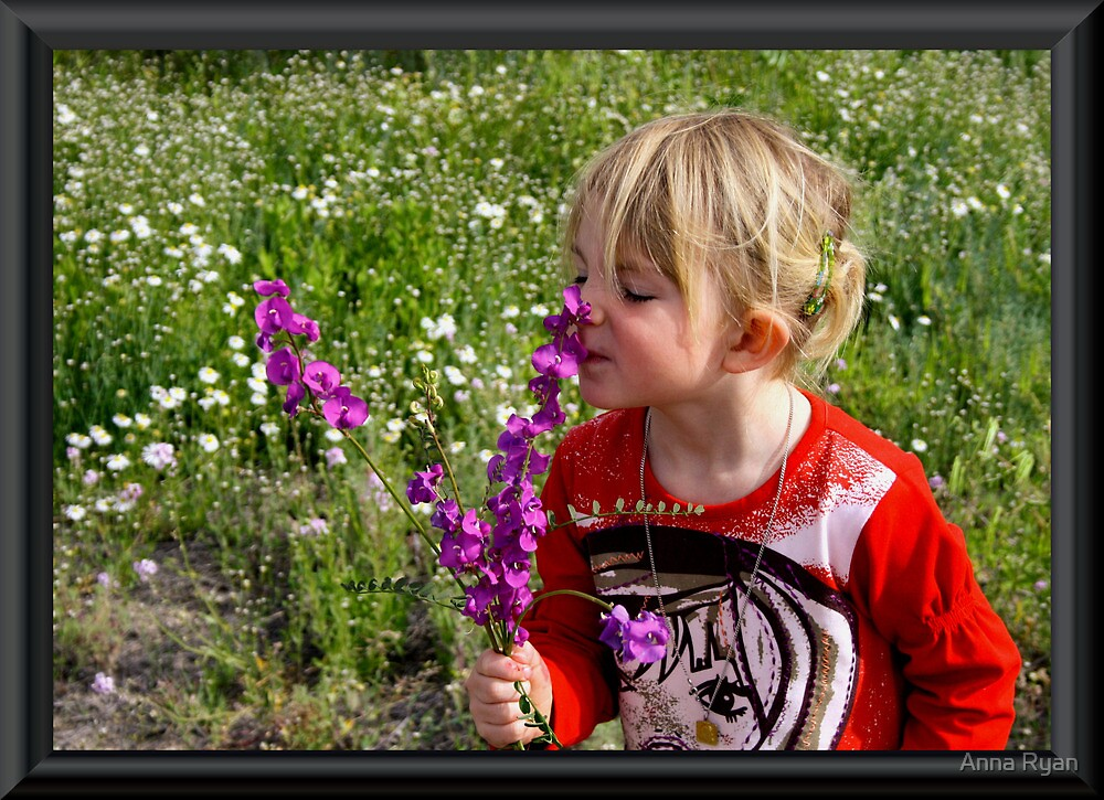 Smelling the Flowers! by Anna Ryan