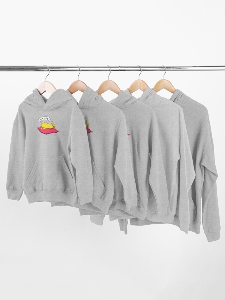 Alternate view of Not Today Cat Kids Pullover Hoodie