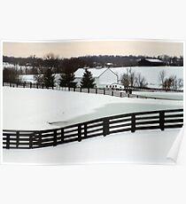 Snowy Day - Richwood Farm Poster