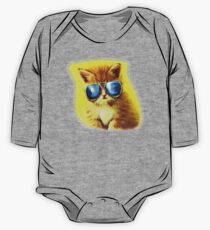 Cute Kitty with Sunglasses Kids Clothes