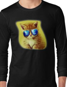 Cute Kitty with Sunglasses Long Sleeve T-Shirt