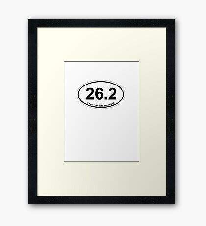 26.2 (Oreos I can eat in one sitting) Framed Print