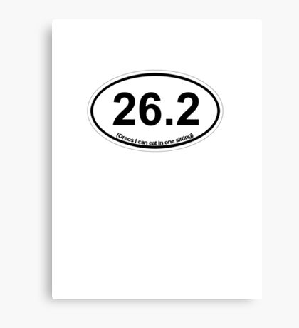 26.2 (Oreos I can eat in one sitting) Canvas Print
