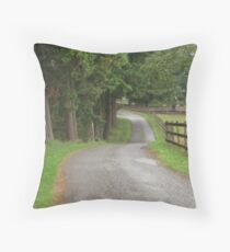 Driveway to the Barn Throw Pillow