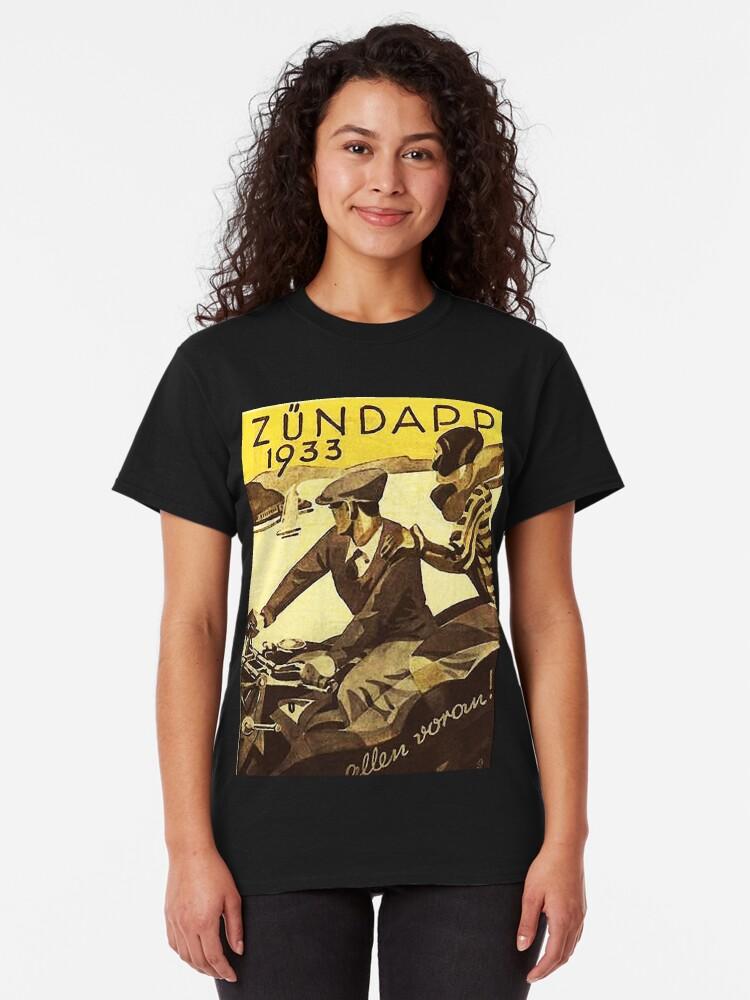 Alternate view of Vintage motorcycle...Zundapp 1933 advertising. Classic T-Shirt