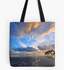 Sunrise At Nudgee Beach. Brisbane, Queensland, Australia. Tote Bag
