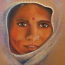 Lakshmi - Goddess of abundance by Cheryl White