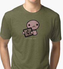 Judging you (dark background) Tri-blend T-Shirt