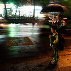 Nighttime Taxi Call by Brian Webb