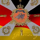 Old Prussian Flag superimposed on German Flag by edsimoneit