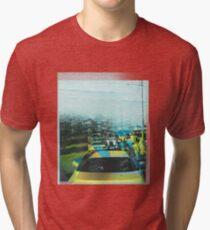 Bustle me gently- Kampala street scene, Uganda Tri-blend T-Shirt