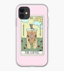 """The Coffee"" Tarot Card iPhone Case"