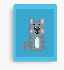 pixel cat Canvas Print