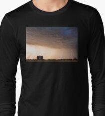 Lightning Striking On The Colorado Prairie Plains Long Sleeve T-Shirt