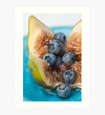Fig and Blueberries Art Print
