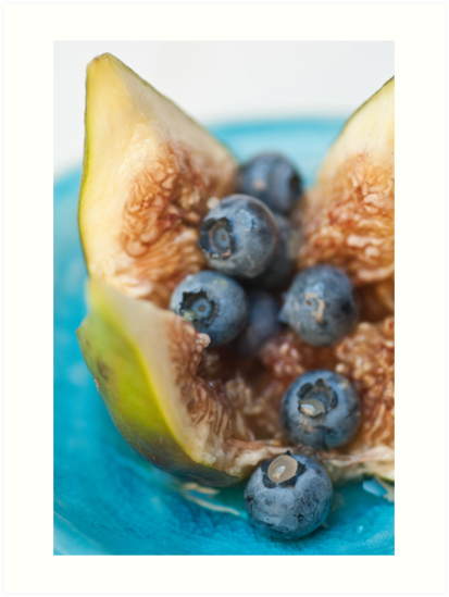 Fig and Blueberries by Ilva Beretta