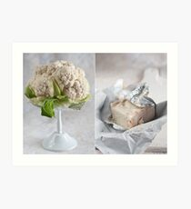 Cauliflower and cheese Art Print
