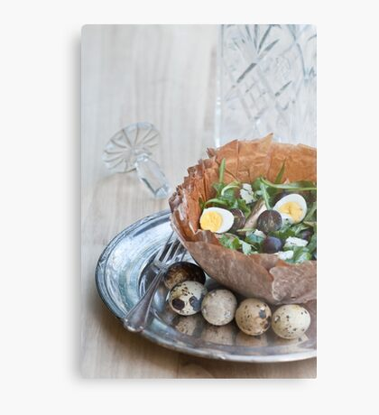Bowl of Salad Metal Print