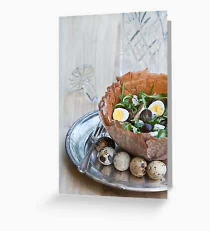 Bowl of Salad Greeting Card