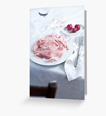 Dinner table Greeting Card
