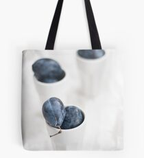 Plums on White Tote Bag