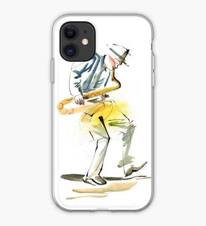 Saxophone Musician art iPhone Case