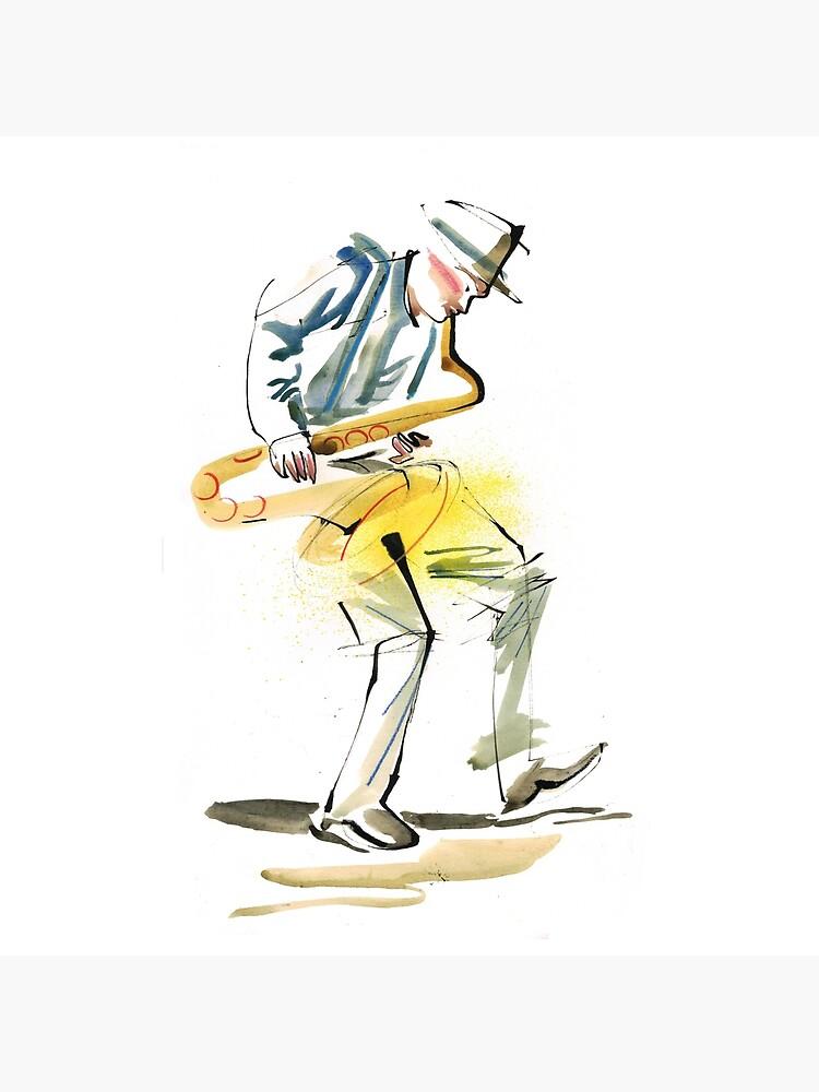 Saxophone Musician art by CatarinaGarcia