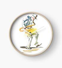 Saxophone Musician art Clock