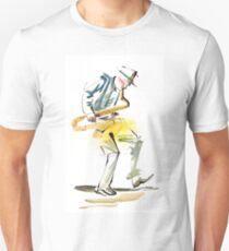 Saxophone Musician art Slim Fit T-Shirt
